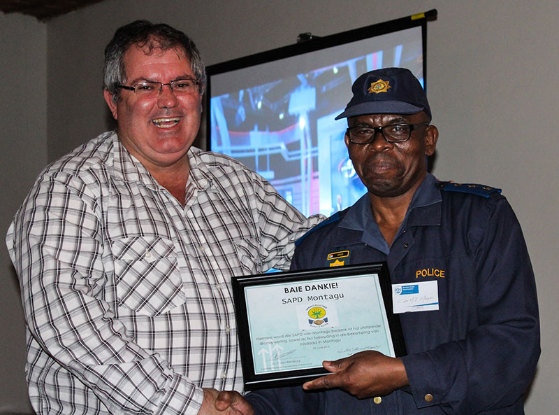 Montagu thanks police for services - News in Montagu